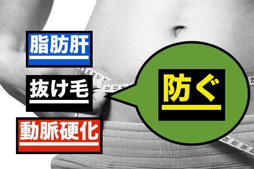 脂肪肝などを防ぐ