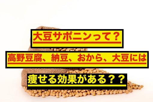 大豆サポニンを含む大豆